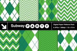 Emerald Green Chevron & Argyle