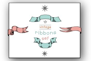 Vintage Ribbons Vector Collection