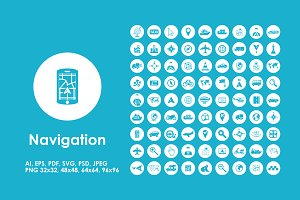 81 Navigation simple icons