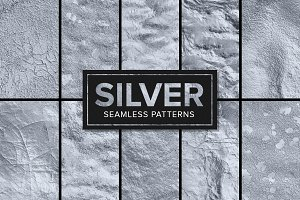 11 Silver Foil Patterns - Seamless