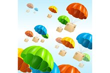 Parachute Background. Vector