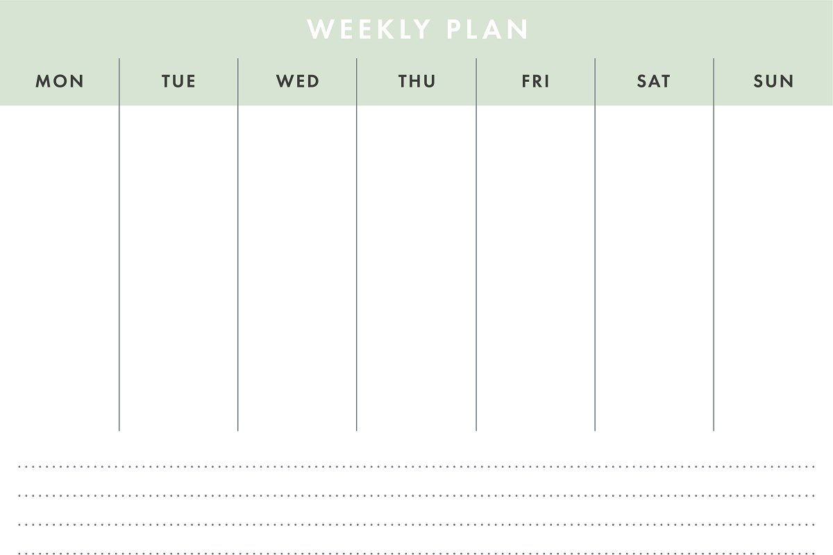 Printable A4 Basic Weekly Planner