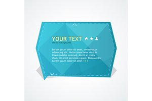 Origami Text Box. Vector