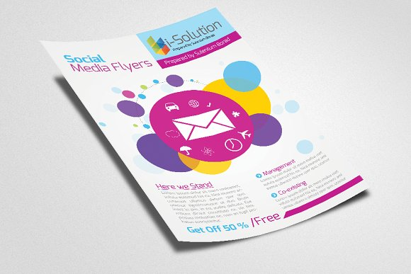 Socail Media Flyer Template in Flyer Templates - product preview 1