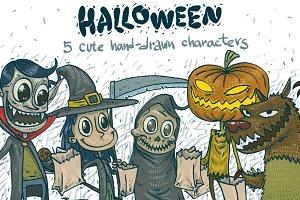 5 Halloween characters