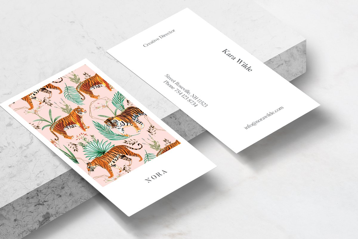 Tropical Tigers Business Card