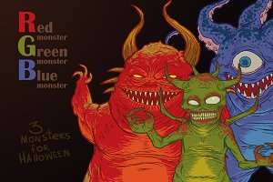3 scary monsters