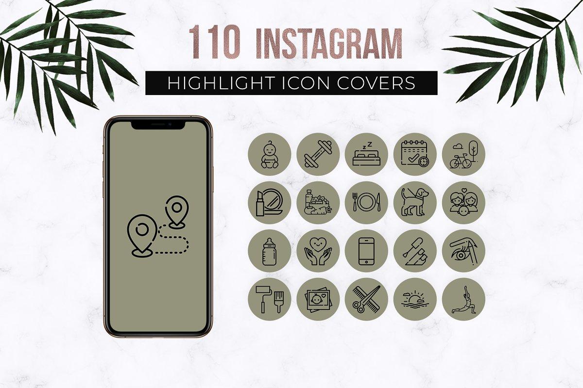 Olive Instagram Story Highlight Icon