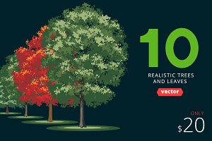 Vector realistic trees