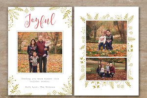 Holiday Card Template for Photoshop