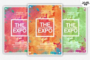 WATERCOLOR Flyer Template