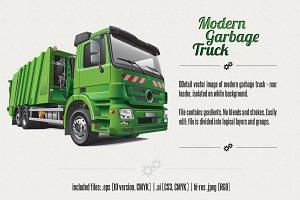 Modern Garbage Truck
