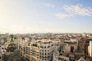 The skyline of Madrid (Spain)