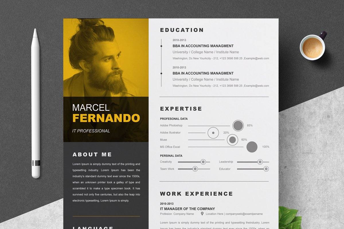 Word Resume Template & Cover Letter ~ Cover Letter Templates ...