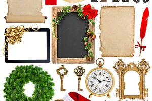 Christmas decorations, ornaments JPG