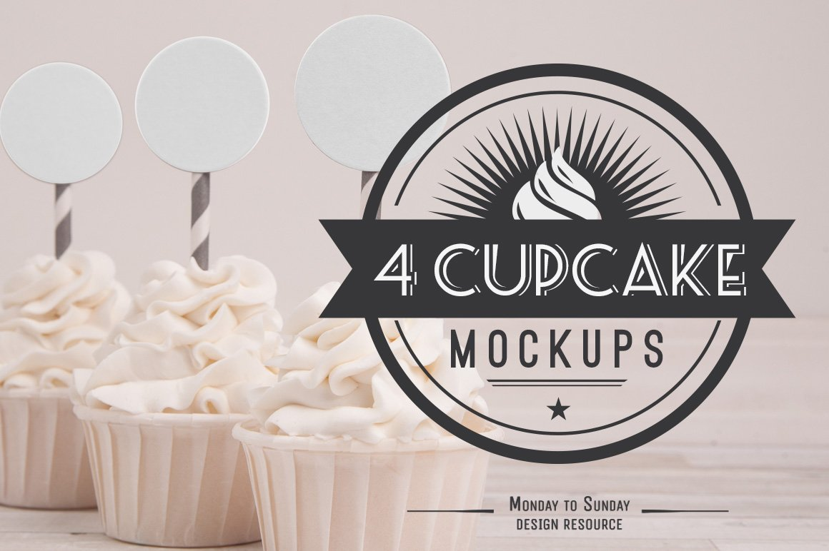 Download Cupcake Mock-ups: perfect for ETSY   Creative Photoshop ... Free Mockups