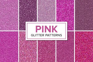 Pink Glitter Patterns - Seamless