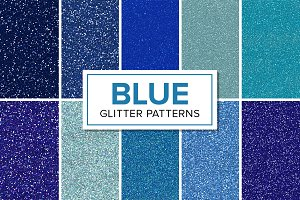 Blue Glitter Patterns - Seamless