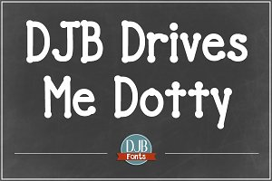 DJB Drives Me Dotty Font