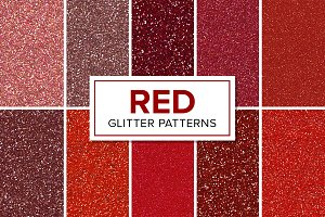 Red Glitter Patterns - Seamless