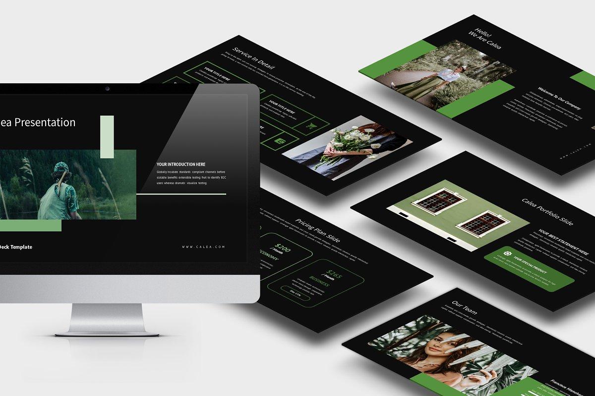 Calea Green Pitch Deck Google Slides