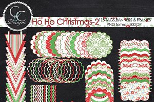 HoHo Christmas2, 115 Clipart/Element