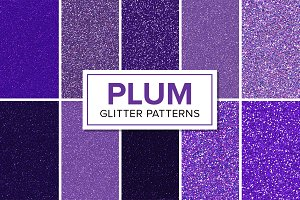 Purple Glitter Patterns - Seamless
