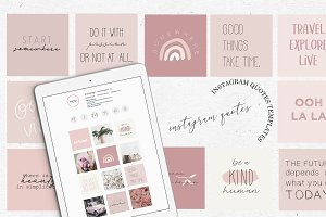 INSTAGRAM FEED QUOTES / BLUSH ROSE