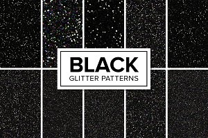 Black Glitter Patterns - Seamless