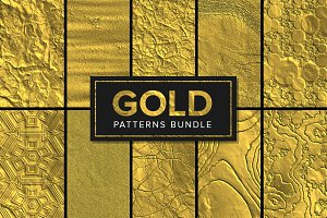 85 Gold Patterns Bundle