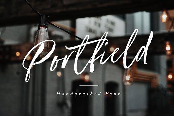 Portfield Handbrushed Font