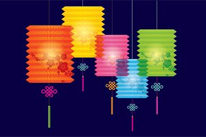 lantern vector/illustration