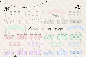 Mason Jar Vector Clipart