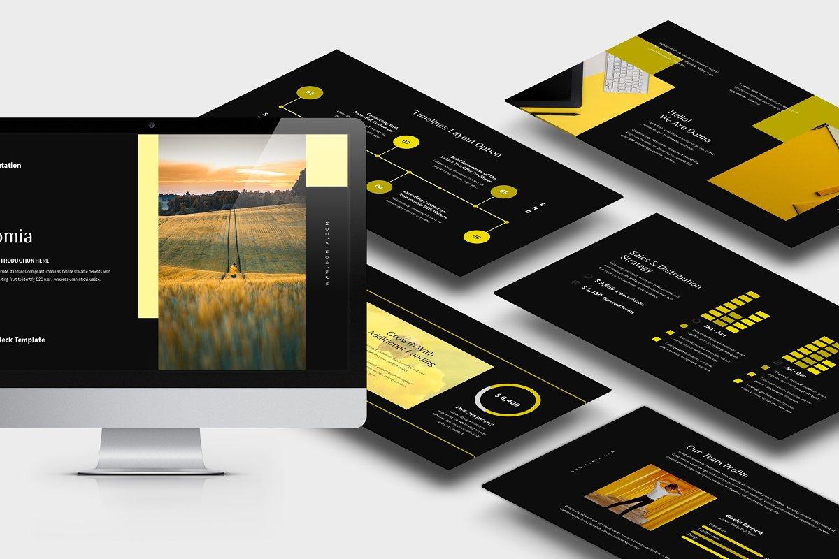 Domia : Yellow Pitch Deck Keynote