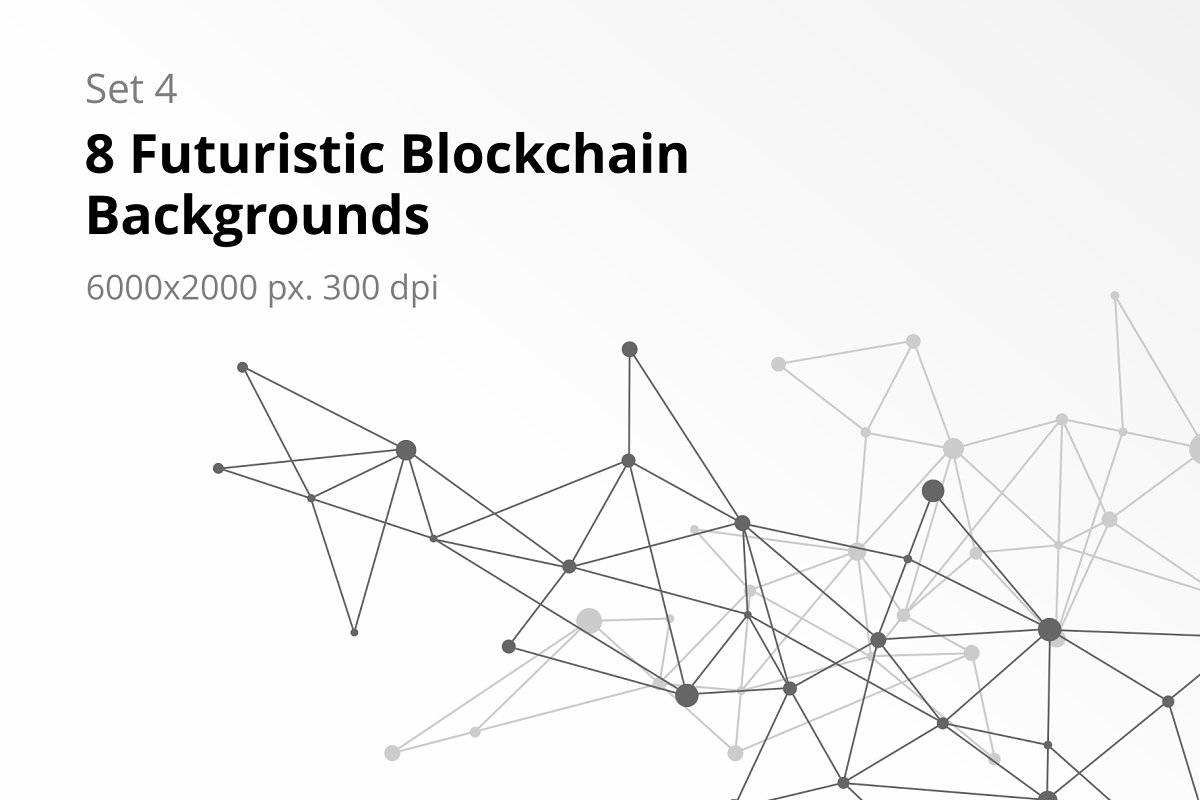 8 Blockchain Backgrounds Set 4 in Textures - product preview 8