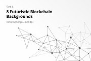 8 Blockchain Backgrounds Set 4