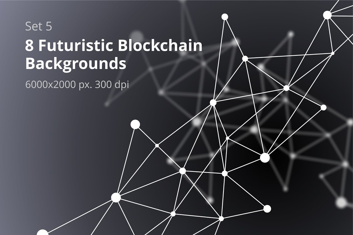 8 Blockchain Backgrounds Set 5 in Textures - product preview 8