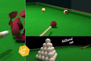 Around billiard table