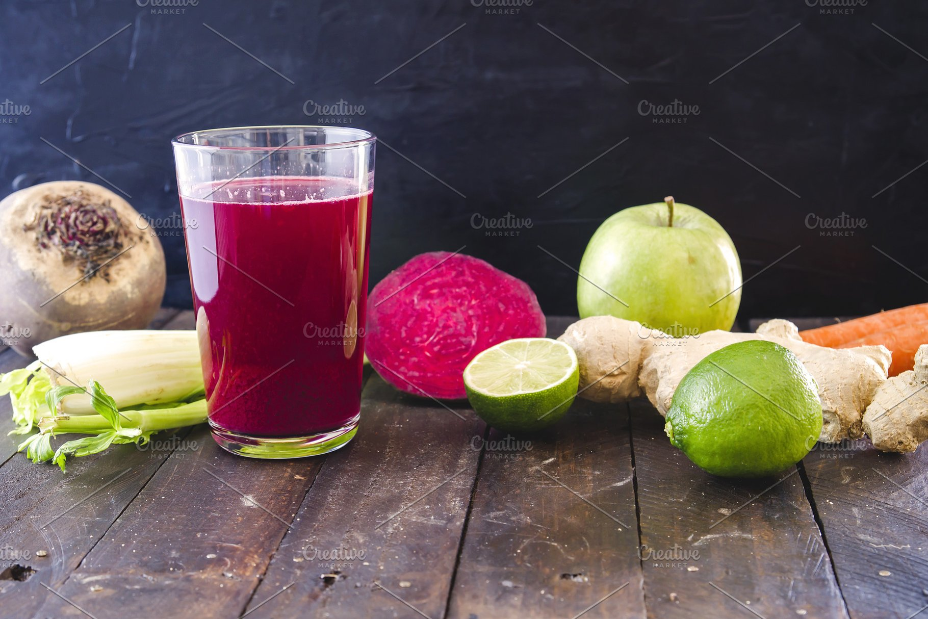 Fresh and delicious homemade detox j