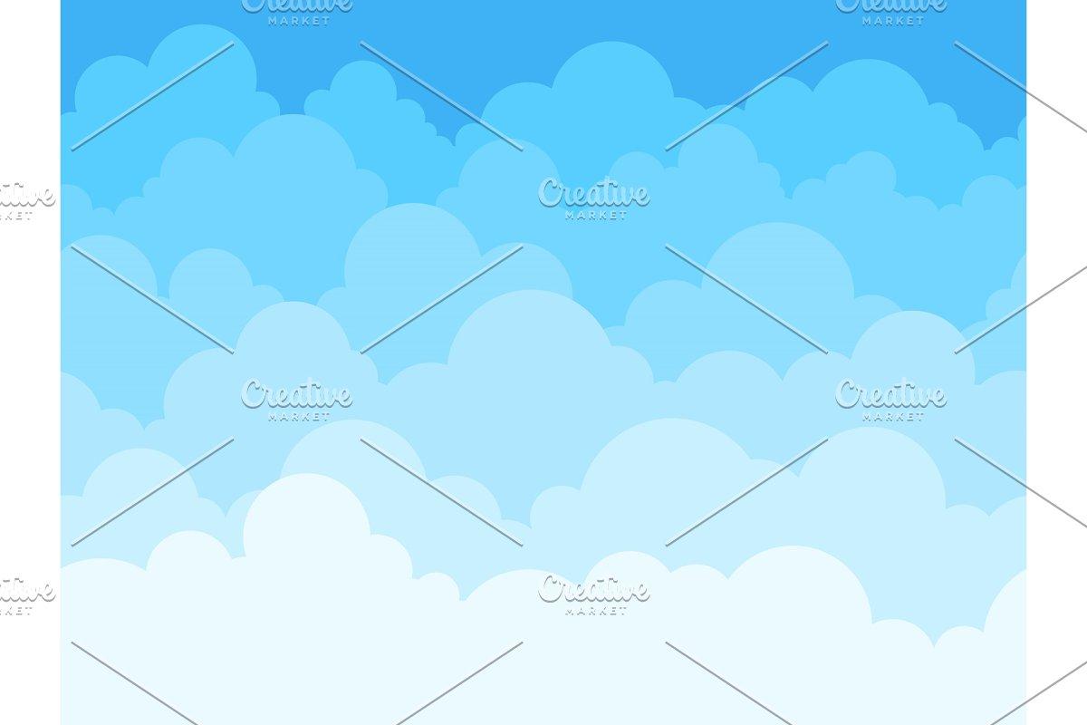 Cloud sky cartoon background  Blue