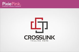 Cross Link Logo Template