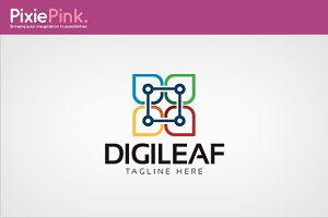 Digileaf Logo Template