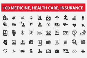 100 medicine, health care, insurance