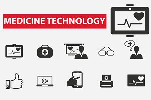 20 medicine technology icons