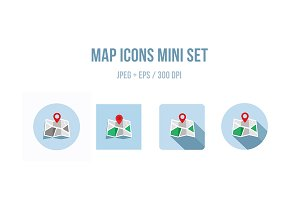 Map icons mini set