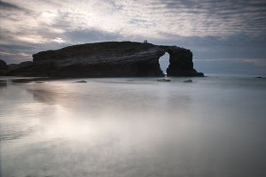 Catedrales beach in Ribadeo,