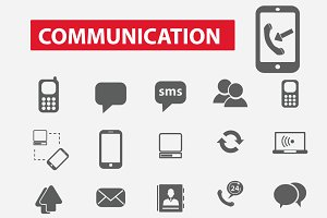 25 communication icons