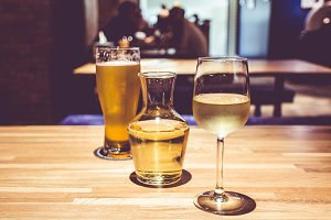 Wine and Beer Glasses