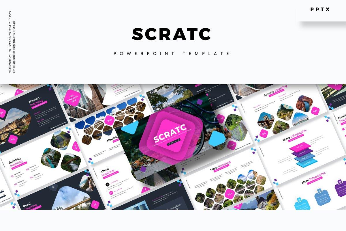 Scratc - Powerpoint Template ~ PowerPoint Templates