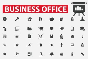 80 Business office icons